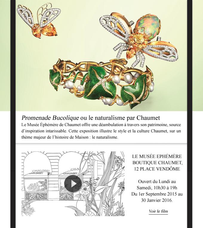 mailing Chaumet de présentation de l'exposition Promenade Bucolique
